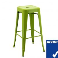 Tall Replica Tolix Stool in Matte Apple Green