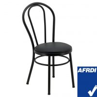 No. 18 Steel Cabaret Chair in Matte Black with Cushion