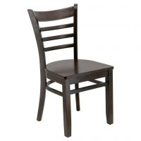 Ladder Back Chair in Dark Walnut