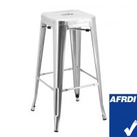 Tall Replica Tolix Stool in Gloss Silver
